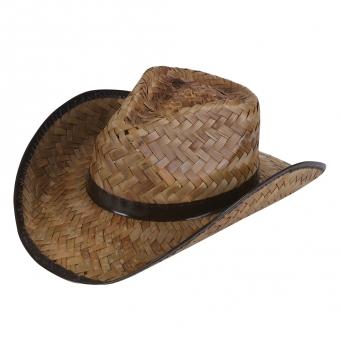 d7f58d38cf1 STRAW COWBOY HAT DARK BROWN